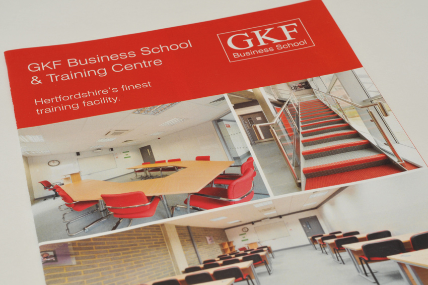 Brochure for GKF Business School, in Watford