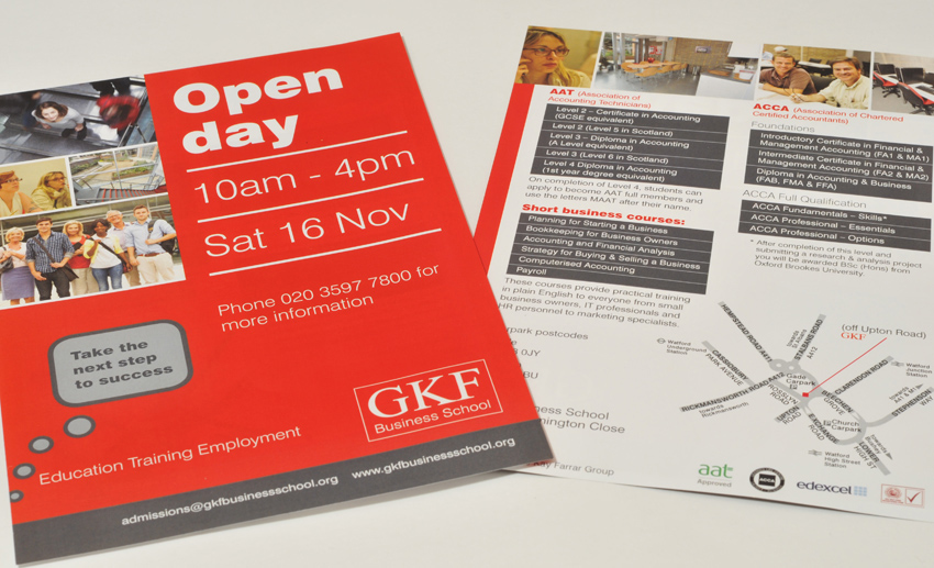 GKF Business School leaflet